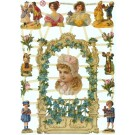 7267 BALUSTRADE FLEURIE ET PETITS PERSONNAGES